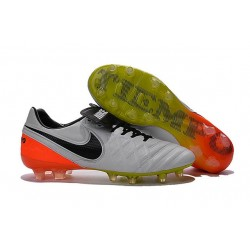 New Cleats Nike Tiempo Legend VI FG Football Boots For Men White Black Total Orange Volt