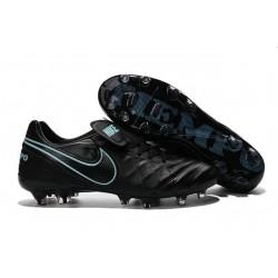 2016 Latest Nike Shoes - Nike Tiempo Legend 6 FG Football Shoes Black Blue