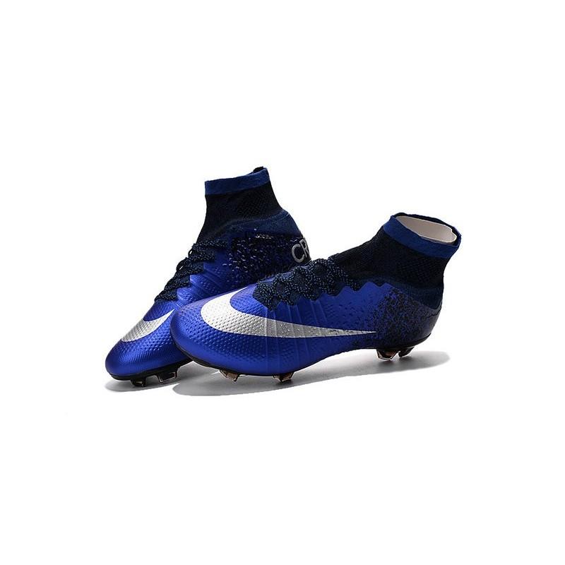 cdf3d7eae Men's Nike Mercurial Superfly IV FG Soccer Shoes Deep Royal Blue Metallic  Silver Racer Blue
