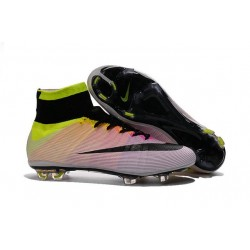 2016 Nike Mercurial Superfly IV FG Soccer Cleats White Black Volt Total Orange