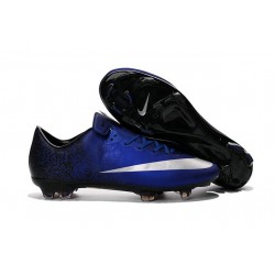 New Shoes - Nike Mercurial Vapor 10 FG Footballl Shoes Deep Royal Blue Metallic Silver Racer Blue