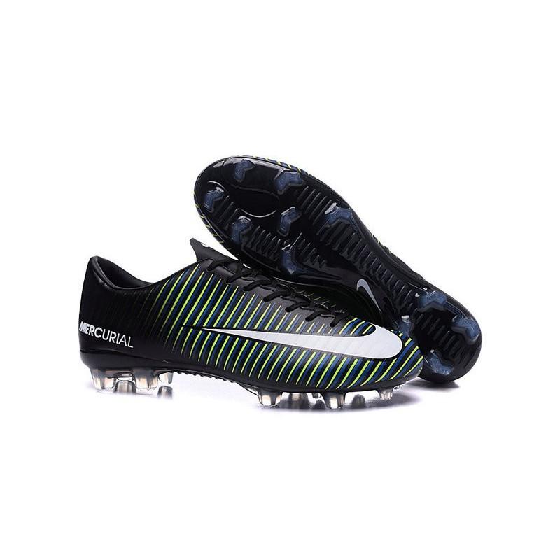 nike soccers shoes black blue
