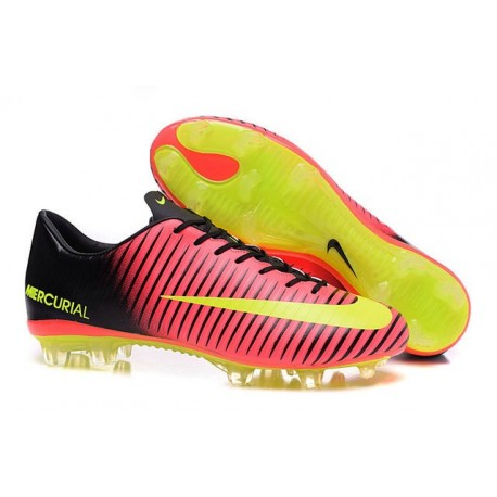 Shoes For Men - Nike Mercurial Vapor 11 FG Soccer Football Total Crimson Volt Black Pink Blast