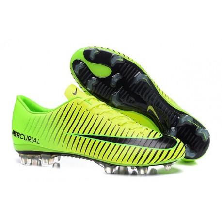 Shoes For Men - Nike Mercurial Vapor 11 FG Soccer Football Green Black