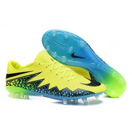 2016 Nike Men's Hypervenom Phinish II FG Soccer Boots - Volt Black Hyper Turquoise