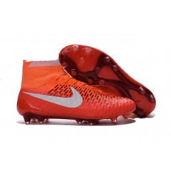2016 New Soccer Shoes - Nike Magista Obra FG Orange White