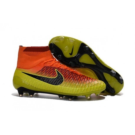 Football Boots For Men Nike Magista Obra FG Total Crimson Black Bright Citrus