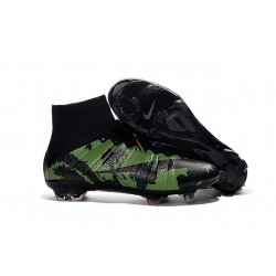 2016 Best Nike Mercurial Superfly IV FG Soccer Shoes Camo Black