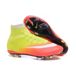 New Nike Mercurial Superfly IV FG Soccer Boots Yellow Orange White Black