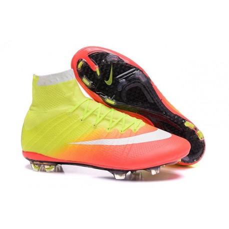 New Nike Mercurial Superfly IV FG Soccer Boots Yellow Orange White Black