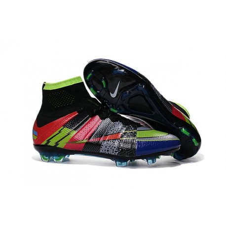Shoes For Men - Nike Mercurial Superfly IV FG Football Cleats Black Green Blue Red What the Mercurial