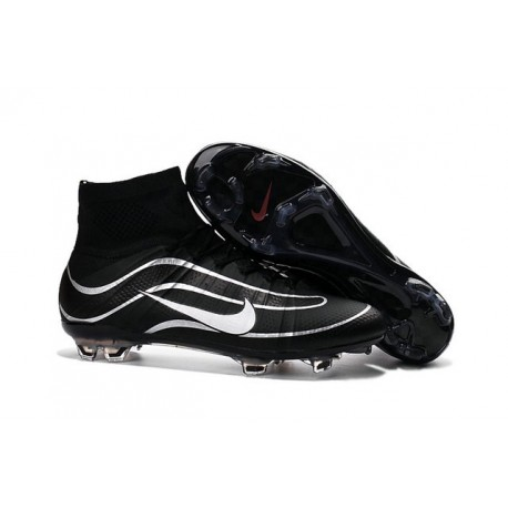 Nike Mercurial Superfly IV Heritage FG Soccer Cleats - Latest Shoes Black Silvery