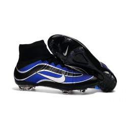 Men's Nike Mercurial Superfly Heritage FG Soccer Shoes Blue Black Silvery White