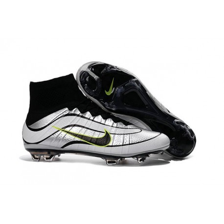 2016 Nike Mercurial Superfly Heritage FG Soccer Cleats Silvery Black Volt