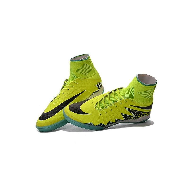 2016 Best Nike Hypervenom Phantom II Soccer Shoes Volt Black Hyper Turquoise