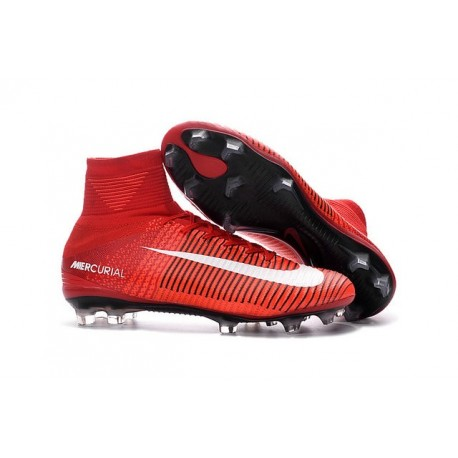 New Soccer Cleats - New Nike Mercurial Superfly 5 FG Red White Black