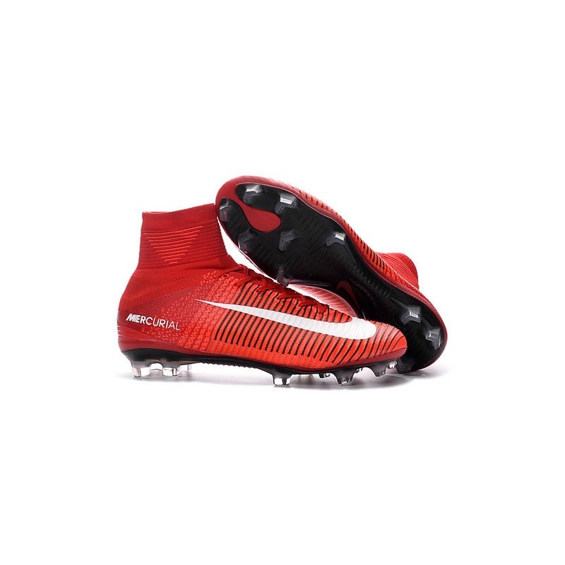 new soccer cleats new nike mercurial superfly 5 fg red. Black Bedroom Furniture Sets. Home Design Ideas