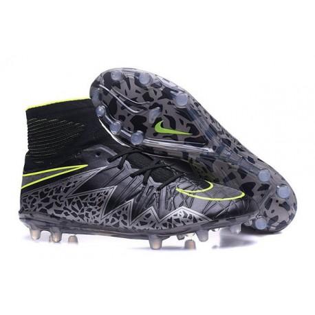 Nike Hypervenom 2 Phantom Men's Nike Football Cleats Black Metallic Hematite Volt