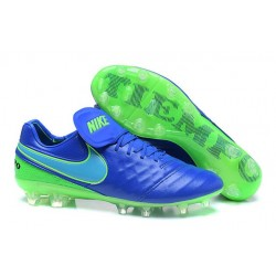 2016 Latest Nike Shoes - Nike Tiempo Legend 6 FG Football Shoes Blue Green
