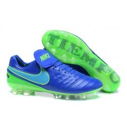 2016 Latest Nike Shoes - Nike Tiempo Legend 6 FG Football Shoes Blue Green
