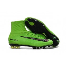 Cleats 2016 - Shoes Nike Mercurial Superfly V FG Green Black