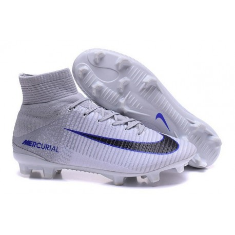 New Soccer Cleats - New Nike Mercurial Superfly 5 FG White Grey Black