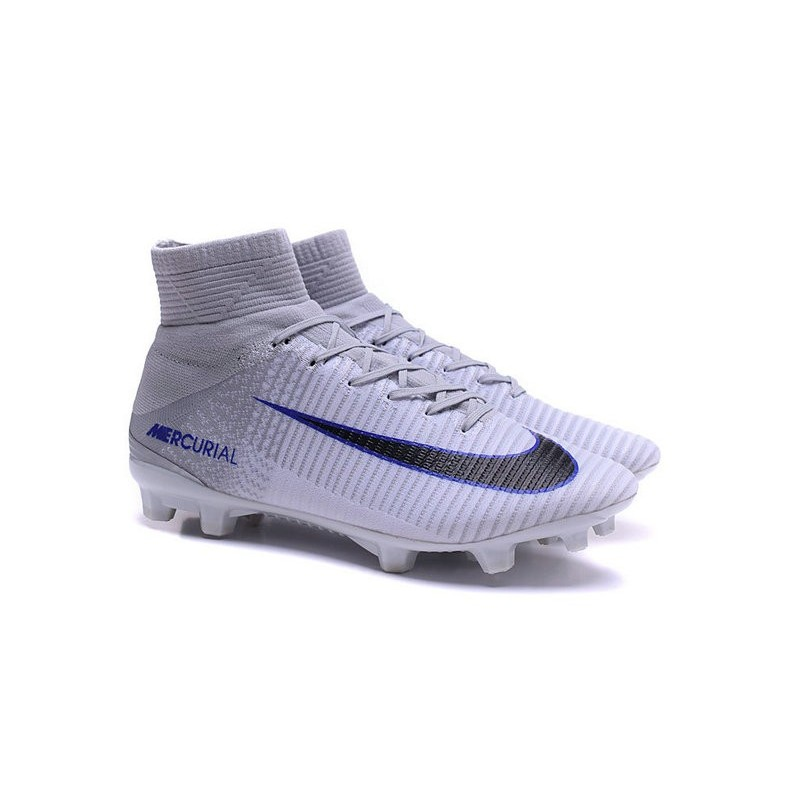 2a6883cf325 New Soccer Cleats - New Nike Mercurial Superfly 5 FG White Grey Black
