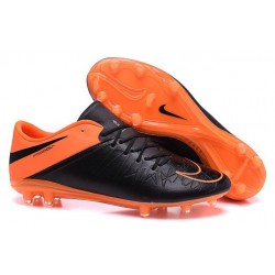 2016 Nike Men's Hypervenom Phinish II FG Soccer Boots - Black Total Orange