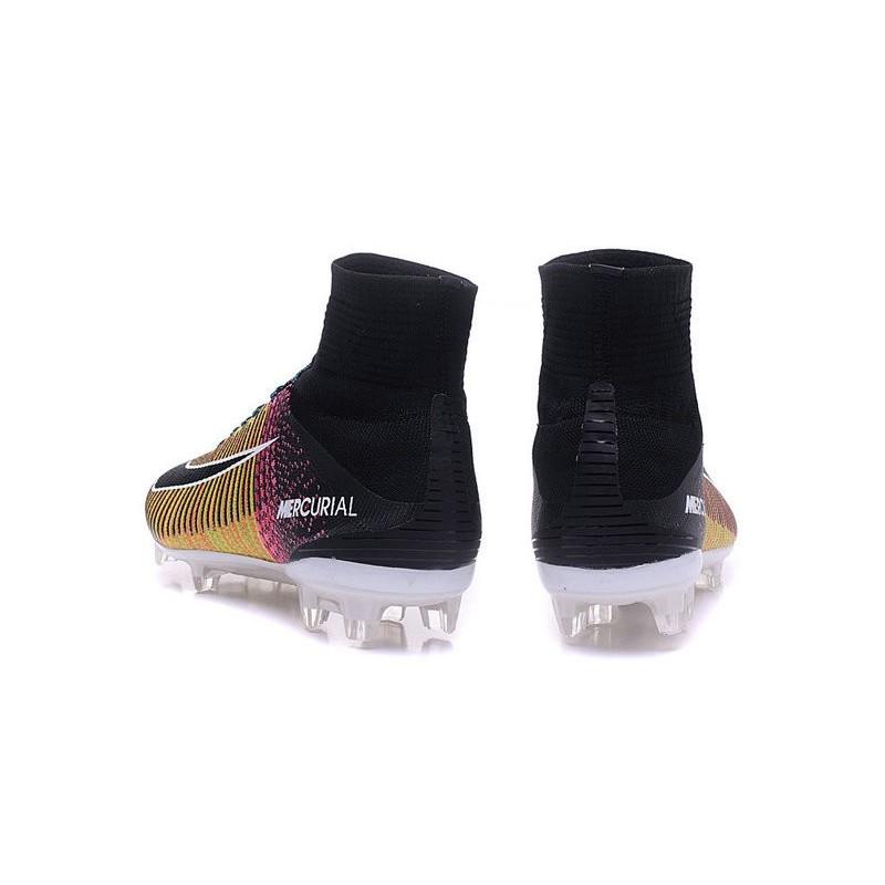 Cleats 2016 Shoes Nike Mercurial Superfly V FG Orange Volt