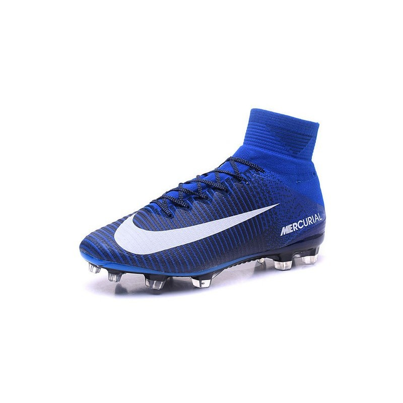 373bc37e369 Nike Mercurial Superfly 5 FG Blue White Maximize. Previous. Next Black ...