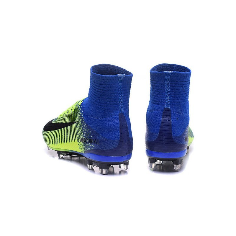 a347bfe05937 New Soccer Cleats - New Nike Mercurial Superfly 5 FG Green Blue Black