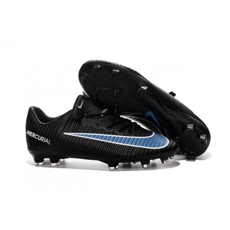 Soccer Cleats 2016 - Nike Mercurial Vapor 11 FG Black Blue