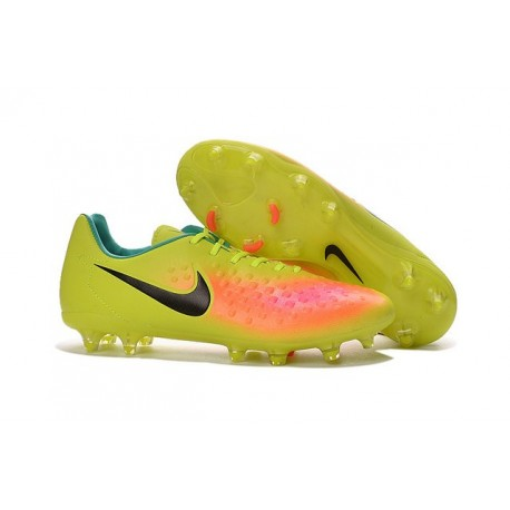 New Nike Magista Opus II FG Football Boots - Low Price - Volt Black Total  Orange b7c381b577389