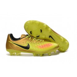 New Nike Magista Opus II FG Football Boots - Low Price - Gold Volt Black