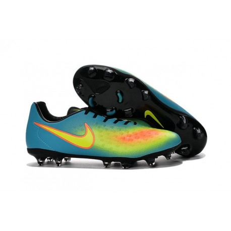 New Nike Magista Opus II FG Football Boots - Low Price - Blue Volt Orange