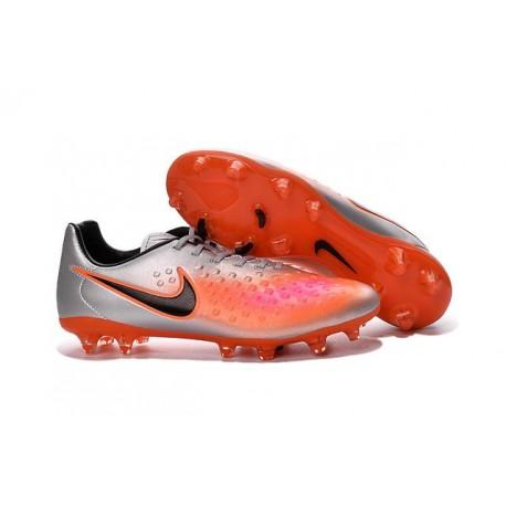 New Nike Magista Opus II FG Football Boots - Low Price - Silver Orange Black