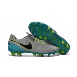 New Cleats Nike Tiempo Legend VI FG Football Boots For Men Wolf Grey Black Clear Jade