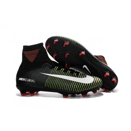 Cleats 2016 - Shoes Nike Mercurial Superfly V FG Black Violet Volt
