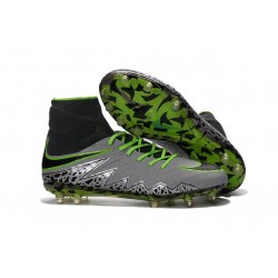 2016 Best Nike Hypervenom Phantom II Soccer Shoes Pure Platinum Black Ghost Green