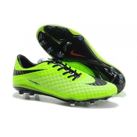 New Nike Men's Hypervenom Phantom FG Football Cleats - Black Green