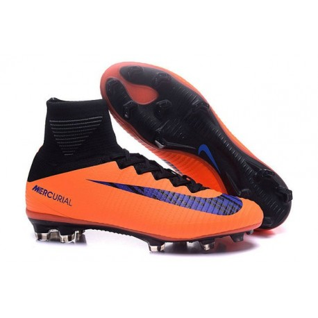 New Soccer Cleats - New Nike Mercurial Superfly 5 FG Orange Black Violet