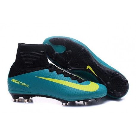 Cleats 2016 - Shoes Nike Mercurial Superfly V FG Green Yellow Black