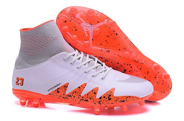 cola oyente Tomate  2016 Best Nike Hypervenom Phantom II Soccer Shoes Neymar x Jordan Orange  White