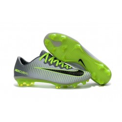 Soccer Cleats 2016 - Nike Mercurial Vapor 11 FG Pure Platinum Black Ghost Green