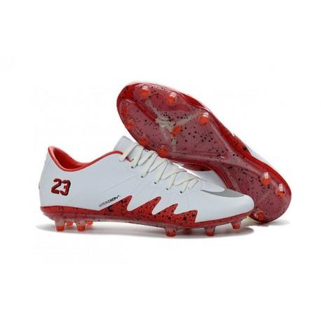 2016 Nike Men's Hypervenom Phinish II FG Soccer Boots - Neymar x Jordan White Red