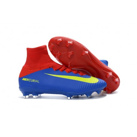 New Soccer Cleats - New Nike Mercurial Superfly 5 FG Blue Red Yellow
