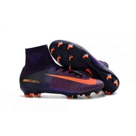 Cleats 2016 - Shoes Nike Mercurial Superfly V FG Purple Dynasty Bright Citrus Hyper Grape
