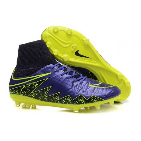 Nike Hypervenom 2 Phantom Men's Nike Football Cleats Violet Volt Black