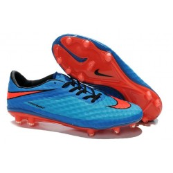 Nike Hypervenom Phantom FG Soccer Cleats - Men's Shoes Blue Red Black