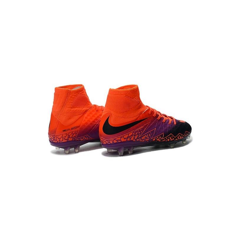 ee03ac3797a Nike Hypervenom 2 Phantom Men s Nike Football Cleats Total Crimson Obsidian  Vivid Purple